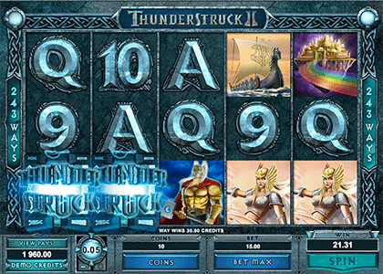 Thunderstruck 2 online slot game
