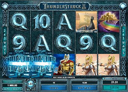 Thunderstruck II online pokie