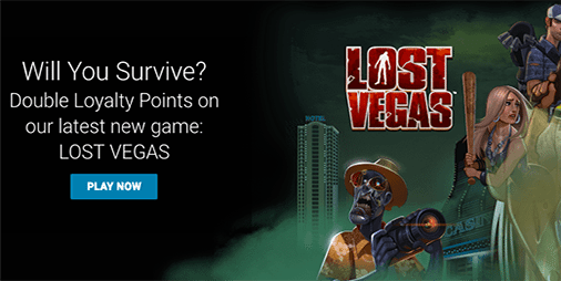 2x Jackpot City rewards on Lost Vegas pokies