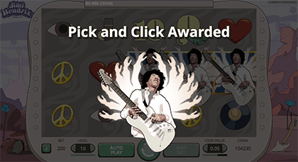 Jimi Hendrix Pick and Click feature