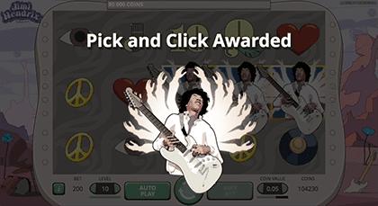 Jimi Hendrix Pick and Click feature