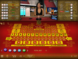 Live Dealer Sic Bo by Microgaming at Royal Vegas Casino