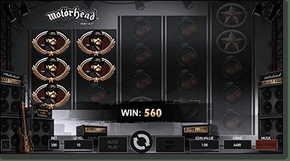 Motorhead slot - Lemmy symbol win