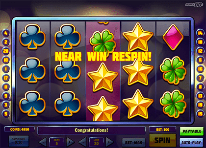 Super Flip respins feature