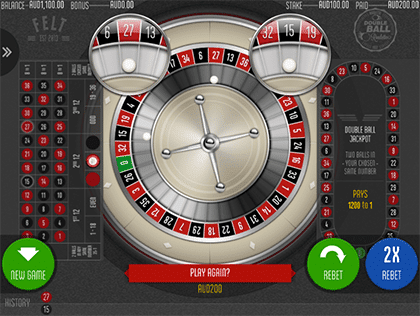 Felt Double Ball Roulette