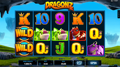 Dragonz slots game by Microgaming
