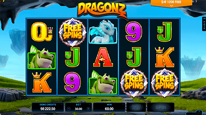 Free spins on Dragonz