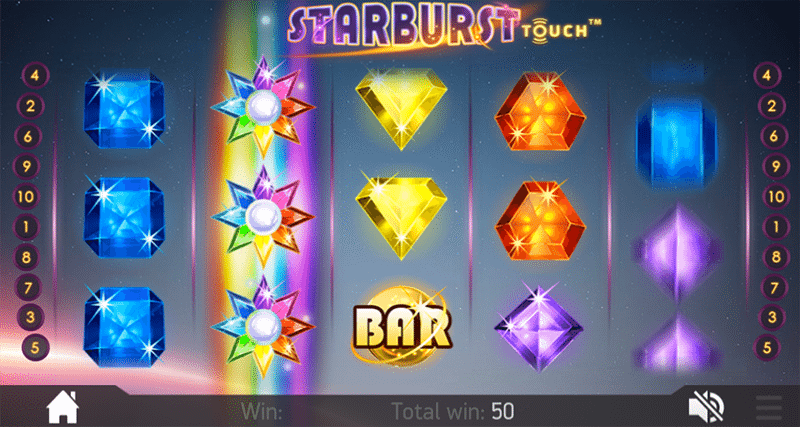 Starburst mobile slot game