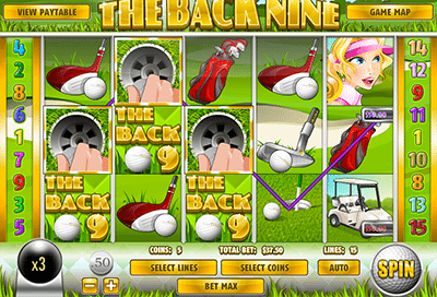 Online golf slot game