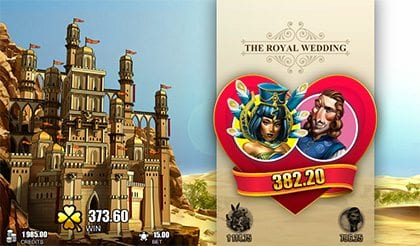Castle Builder Royal Wedding bonus round