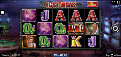 Lost Vegas iOS slot game