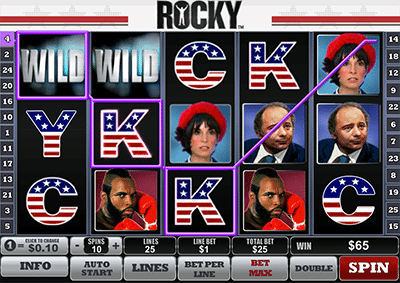 Rocky online slot game