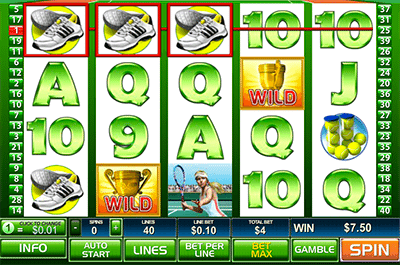 Playtech tennis slot online