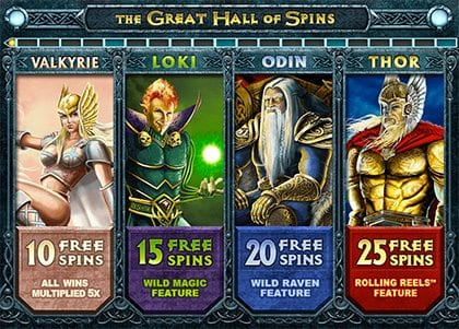Great Hall of Spins bonus feature