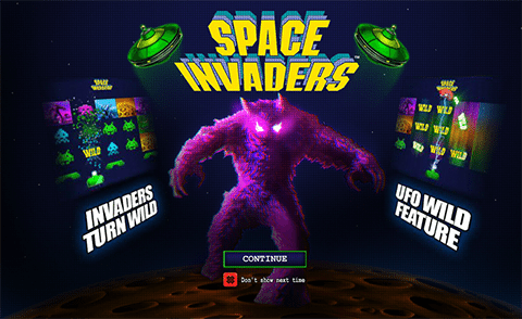 Space Invaders by Playtech software