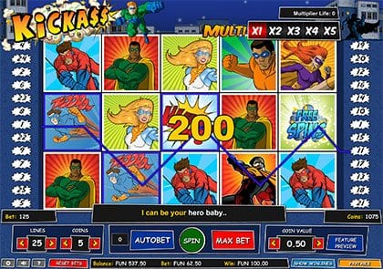 Kickass online slot by 1x2 Gaming