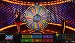 evolution live casino dream catcher money wheel