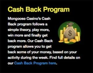 Mongoose cash back program