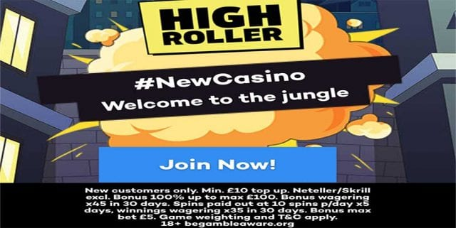HighRoller.com UK bonus