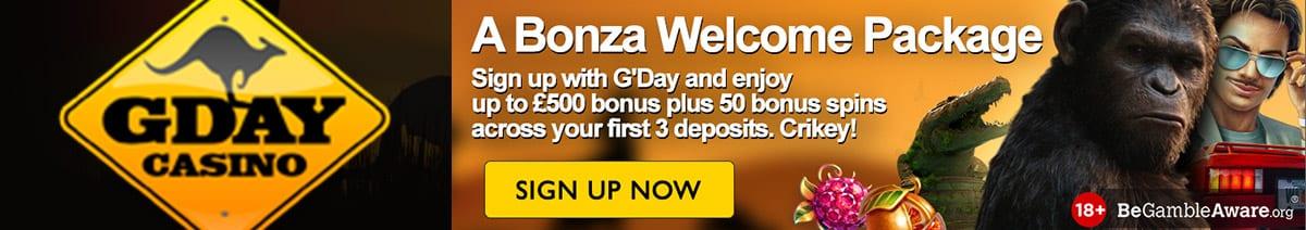 www.GdayCasino.com - real Au money pokies games