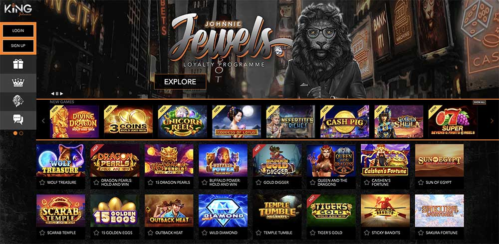 King Johnnie Casino review & bonus